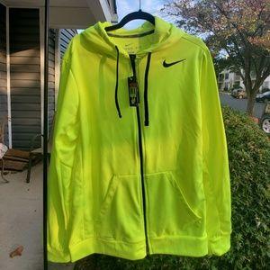 Neon Yellow Nike Zip Up
